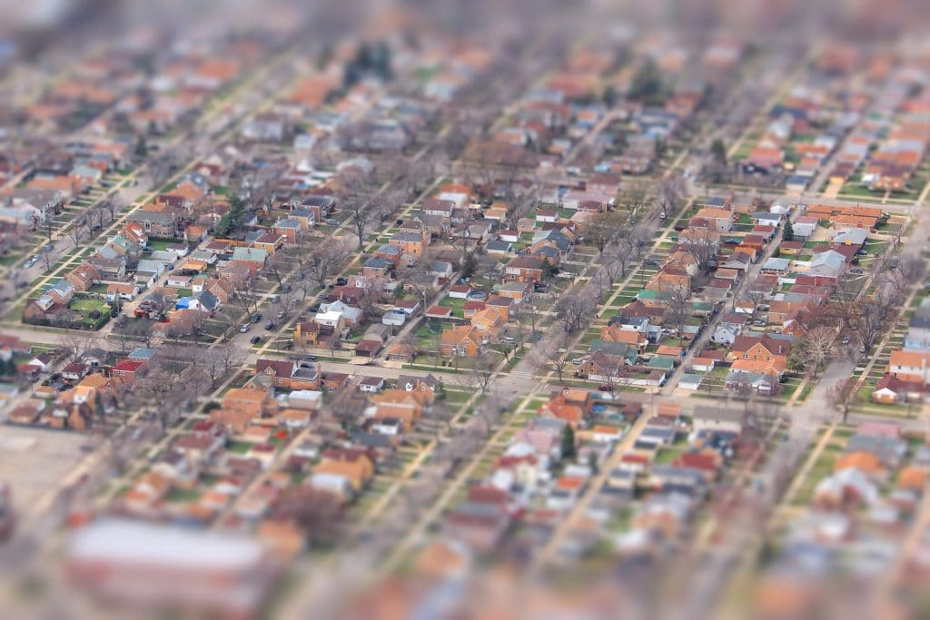 Suburban Chicago residential neighborhood