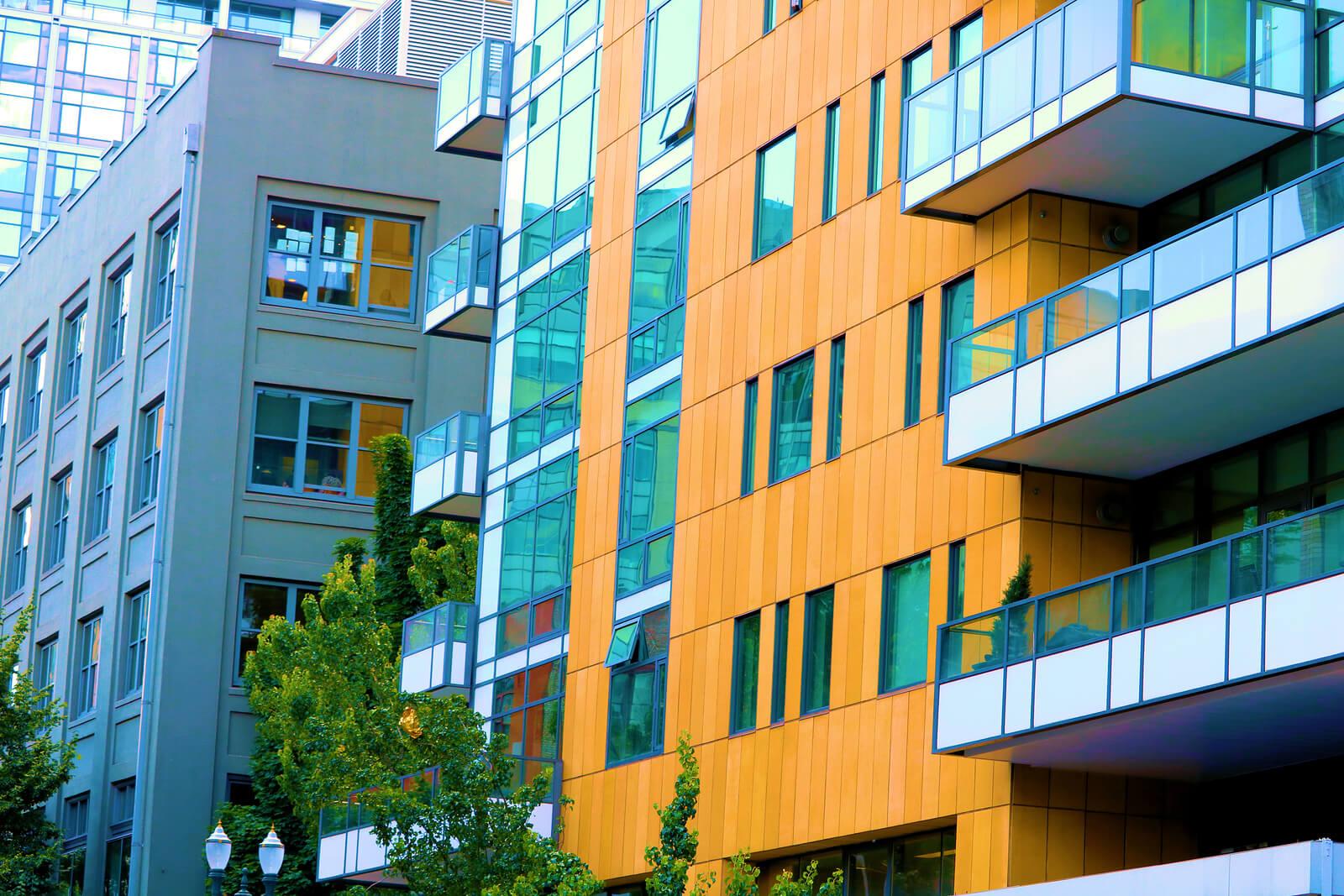 exterior of a condominium building